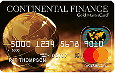Continental finance upgrade credit card